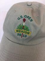 add54d50839 2013 U.S. Open Merion Adjustable Golf Hat Cap Khaki Tan USGA Member