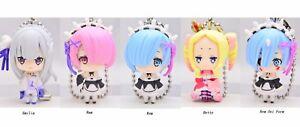 Re:Zero Mascot Swing Anime Keychain Figure Emilia Ram Rem Beatrice Betty @71011