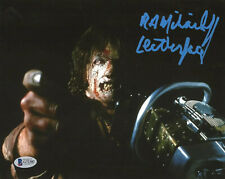 RA MIHAILOFF signed 8x10 Photo LEATHERFACE 3 Texas Chainsaw Horror Movie Beckett