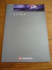 VAUXHALL ASTRA SALOONS 1999 CAR BROCHURE