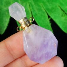 M22896 Natural Amethysts Charm Essential Oil Diffuser Bottle Pendant