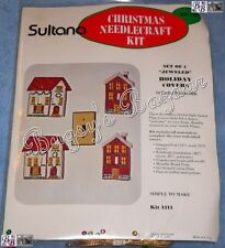 Sultana CHRISTMAS HOUSES Jeweled Electric Switch Plate Covers Felt Applique Kit