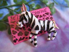 Betsey Johnson Adorable Little Zebra Brooch Pin- NEW A#1