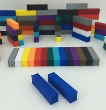 NEW (2) 40' Shipping Containers - N Scale 1:160 - BLUE - ALL COLORS AVAILABLE