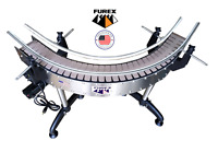 """Furex Stainless Steel 4.5"""" 90 Degrees L-Shape Curved Conveyor with Plastic Belt"""