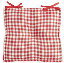 Nwt The Pioneer Woman Red White Gingham Country Checked Chair Seat Pad Cushion