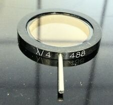 """488 nm Quarter-wave plate 1"""" (25mm) round mounted with arm"""