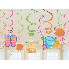 Fun in the Sun Beach Swirl Decoration Summer Luau Hawaiian Birthday Party Supply