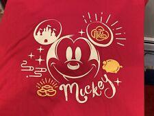 Disney Parks Disney Shanghai  Men's Size XL T-shirt Red Mickey Mouse