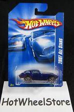 2007  Hot Wheels  Blue  '63 Corvette    Card #150    HW10-042718