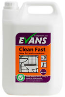 Evans Clean Fast - Heavy Duty Perfumed Washroom Bathroom Cleaner 5 Ltr