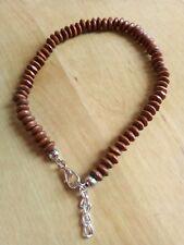 Dark Wooden Bead anklet/ankle bracelet Summer,beach