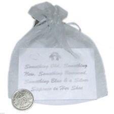 Brides Lucky Sixpence En Organza Sac avec carte cadeau (xluck 6)