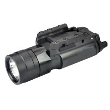 500Lumen Tactical Flashlight LED light + picatinny rail pistol Rifle Hunting F