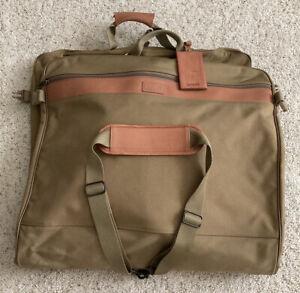Hartman Luggage – Nylon & Leather Garment Bag – Carry On Fold Over