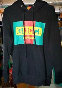 Black GUCCI Dapper Dan Hoodie Size Large Hooded Sweatshirt