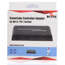 Mayflash GameCube Controller Adapter for Wii U PC USB and Switch 4 Port Cables