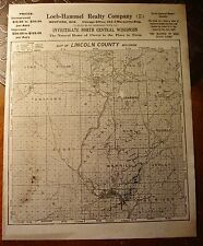Loeb-Hammel Lincoln County Wisconsin Antique Plat Map