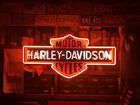 4' Large Harley Davidson HD Motorcycle Real Neon Sign Beer Light Home Decor Feet