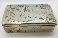 Tiffany & Co Aesthetic Sterling Silver Lap Over Edge Acid Etched Jewelry Box