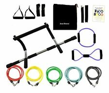 Iron Fitness Door Exrecise Pull-up Chin Up Gym + 15 Pcs Latex Resistance Bands