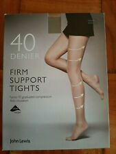 John Lewis womens 10 FACTOR FIRM SUPPORT TIGHTS Small n.black