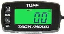 TUFF Tach / Hour Meter WATERPROOF UNIVERSAL Back lit Tachometer ATV Marine Lawn
