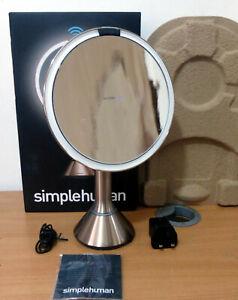 Simplehuman ST3027 20CM Sensor Mirror, Touch-Control Brightness - Rose Gold