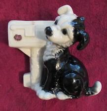 Royal Copley, Rare, Black & White, Puppy Mailbox Planter, Vintage