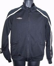 Umbro Size Small Mens Full Zip Jacket Black with White Detailing