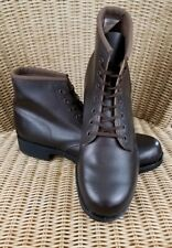 PCI Products Prison Made by Inmates Brown Leather Work Boots 9 E 3067