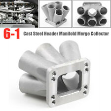6-1 Cast Stainless Steel Header Manifold Merge Collector T3 T4 Flange M10 x 1.5