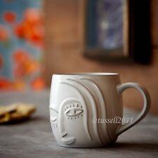 2013 STARBUCKS VINTAGE LOOKING MERMAID RELIEF COFFEE TEA MUG CUP x1 12OZ/355ML