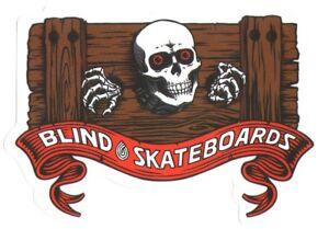 Blind Skateboards Heritage Skull Series Skateboard Sticker skate board stocks