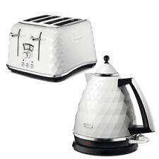 De'Longhi Brillante Kettle and Slice Toaster Kitchen Set White Gift Sale Cheap