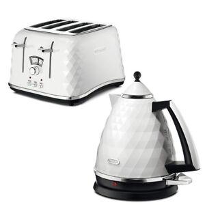 De'Longhi Brillante Kettle and Toaster Set White 4 Slice Xmas Cheap Deal Buy