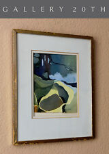 JOAN GUNTHER! MID CENTURY MODERN  ABSTRACT PAINTING! WATERCOLOR ART VTG