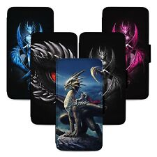 Fantasy Dragon Designs Flip Phone Case Cover Wallet - Fits Iphone 5 6 7 8 X 11