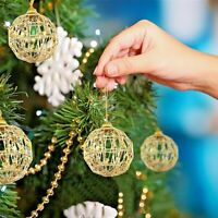6 Hand made Christmas decorations Butterfly Baubles Xmas Tree Party Ornament Dec