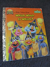 LITTLE GOLDEN BOOK...Hardcover    book...1996....Which witch is which? Sesame St