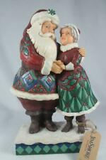 Jim Shore 'Cutest Christmas Couple' Santa & Mrs. Claus Figurine #6001465 New
