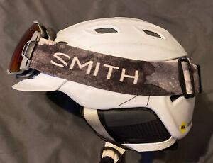 Smith Vantage MIPS Ski Snowboard Helmet Men's Matte White Large & Smith Goggles