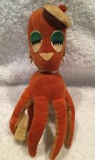 "Vintage DAKIN DREAM PETS Octopus Mimi Stuffed Plush Red 6"""