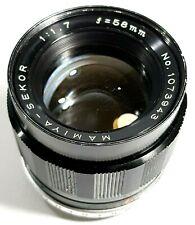 Mamiya Sekor F1.7 58mm Prime Lens M42 Mount Rare UK Fast Post