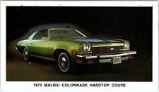 Classic Car   1973 Chevrolet  MALIBU COLONNADE Hardtop Coupe   Postcard