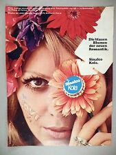 Sinalco Kola PRINT AD - 1968 ~~ German language ~~ hippie, flower power, cola