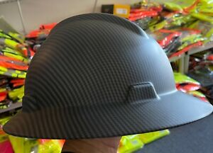 Mate Black,  Full Brim Hard Hat with with Fas-trac Suspension