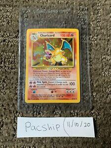 Charizard Base Set Holo 1999 Pokemon Card NM+ 4/102 PSA 9?!