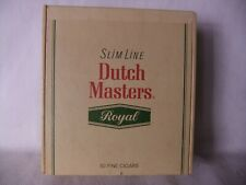 Dutch Masters Royal Slim Line 50 Count Cigar Box 2/25 Cents Vintage Rare