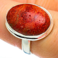 Sponge Coral 925 Sterling Silver Ring Size 7.75 Ana Co Jewelry R46330F